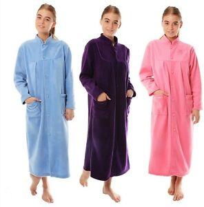 Femmes Peignoir Robe de Chambre Polaire Chaud Grande Taille