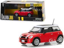 2003 MINI COOPER S RED THE ITALIAN JOB (2003) 1/43 DIECAST CAR GREENLIGHT 86547