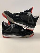 Nike Air Jordan 4 IV Bred Black Fire Red Cement Grey (308497-089) 2012 Size 8.5