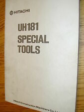 Hitachi UH181 SPECIAL SERVICE TOOLS DRAWING MANUAL EXCAVATOR HYDRAULIC FAB GUIDE