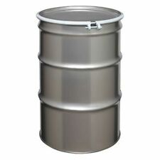 Zoro Select St5501 Open Head Transport Drum 304 Stainless Steel 55 Gal