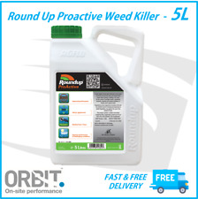 5L Roundup Proactive Professional Strong Glyphosate Weed Killer 360