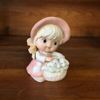 Vintage Homco Girl With Little Lambs Figurine Statue 1418