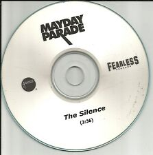 MAYDAY PARADE The Silence 2009 USA TST PRESS PROMO Radio DJ CD single