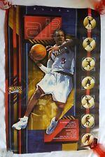 "RaRe. vintage Allen Iverson poster 23x35"" NBA Philadelphia 76ers MVP 90s (2001)"