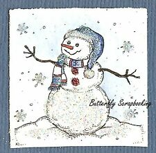 Small WINTER SNOWMAN CHRISTMAS Wood Mounted Rubber Stamp NORTHWOODS C10144 New