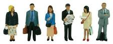 Station Passengers Standing (x6) Bachmann 36-044 - OO painted figures free post