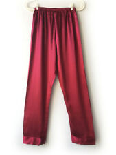 Damen Schlafanzug Nachtwäsche Satin Silk long Hose Pyjama Schlafhose Gr. M-XXXL