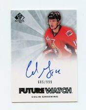 11/12 SP AUTHENTIC FUTURE WATCH ROOKIE RC AUTO #251 COLIN GREENING /999 *43173