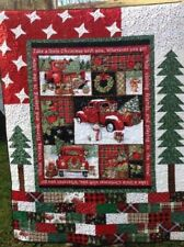 Family Christmas Truck Quilt,Fleece blanket