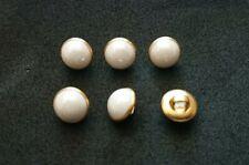 Set di 5 x 25mm LILLA E ORO Blazer Jacket Coat Knitting Craft Pulsanti-Shank