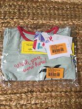 NWT KICKEE PANTS Short Sleeve Pajama Set, Natural Flamingo 6-12 months