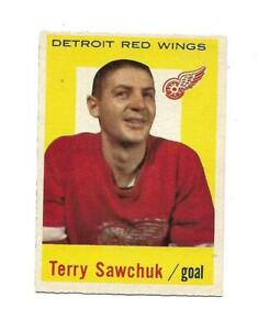 1959-60 Topps:#42 Terry Sawchuk,Red Wings