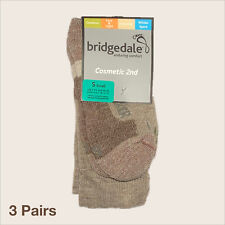 3 Pairs of Bridgedale Walking Socks - S (UK 3-5.5) in Khaki - Cosmetic 2nd