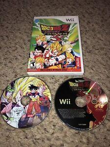 DragonBall Z Budokai Tenkaichi 3 Nintendo Wii with Bonus Disc