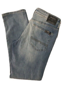 BUFFALO DAVID BITTON ASH X Washed Out Blue Stretch Denim Jeans NWT 34x32 $109