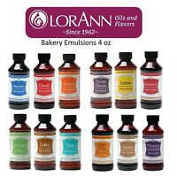 LorAnn Emulsion 4 oz Bakery Emulsions Choose from 23 Flavors, Cookies, Cakes