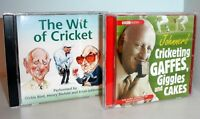 The Wit of Cricket & Johnners' Cricketing Gaffes - 2 Fun Cricket CD Audio Books