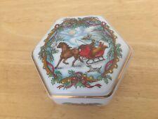 Fine Porcelain Music Box Melodies of Christmas Jingle Bells Heritage House Japan
