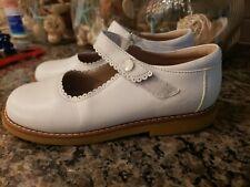 Elephantito White Leather Mary Jane Girls Size 2