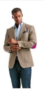 NWT Vineyard Vines Wavecrest Herringbone Sport Coat Jacket Brown 46R $495