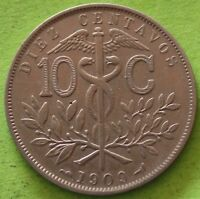BOLIVIE 10 CENTAVOS 1909