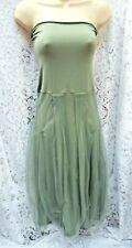 MAIS IL EST OU LE SOLEIL Sage Strapless Party Dress UK 8/10 Top Belgian Designer