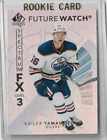 Kailer Yamamoto Edmonton Oilers 2017-18 SP authentic Level 3 Spectrum unscratch