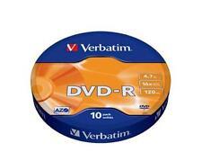 10 DVD -R VERBATIM VUOTI 16X Advanced Azo dvdr 4.7 GB 100% ORIGINALI