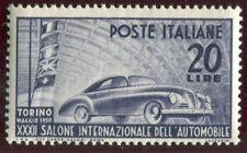 Francobolli della Repubblica italiana dal 1949 al 1955 sul auto