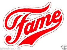 FAME RED 80S retro iron on t shirt transfer A5