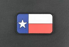 Texas State Flag PVC Morale Patch VELCRO® Brand Lone Star Sate TX Milsim