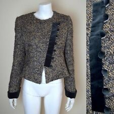 ARMANI COLLEZIONI Jacket with Velvet Trim and Buttons Size 12 (A 44)