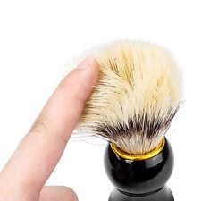 Men's Black Badger Hair Shaving Brush Mugs in Ebony Handle Clean Clearing --