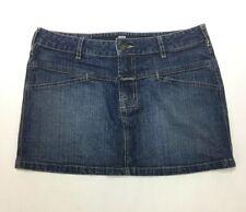 Le Jean De MARITHE FRANCOIS GIRBAUD Womens Size 30 Blue Denim Unique Mini Skirt