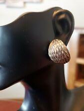 Vintage Sterling Silver Earrings Artist Signed M