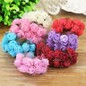 2.5CM 144Pcs Mini Silk PE Rose Foam Flower Bouquet Tulle Wedding Party Decor