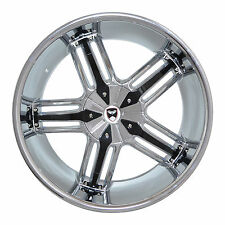 4 GWG WHEELS 20 inch Chrome Black SPADE Rims fits 5X114.3 ET38 DODGE NITRO