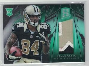 2013 Kenny Stills Panini Spectra Rookie Materials Green 3 Clr Patch Jsy #3/5 OU