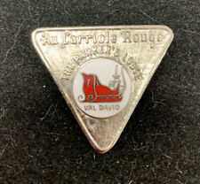 Silver Toned Red Sleigh Au Carriole Rouge The Parkers Lodge Val David Canada Pin