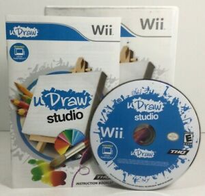 Nintendo Wii uDraw Studio TESTED COMPLETE Fast Free Shipping!