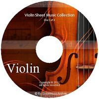Massive Professional Violin Sheet Music Collection Archive Library on 2 DVD's