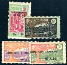 CAMEROUN 1940 Yvert 202-205 * SATZ AUFDRUCKE 112€(F4349