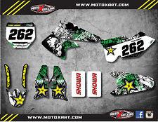 Kawasaki KXF 250 2004 - 2005 Full custom sticker kit GRAFFITI style decals
