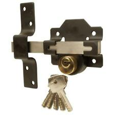 L/THROW LOCK BLACK ST/STEEL BOLT DBL LOCKING 50mm