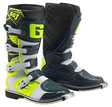 GAERNE SGJ SG-J Kinder Motocross Enduro Quad Stiefel Gr. 34 weiss-yellow-grey