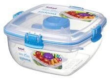 Sistema Klip It Salad To Go Container 1.1L Box Lunch Travel Dressing Food Fruit
