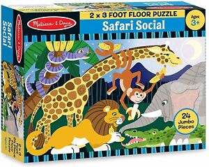 Melissa & Doug - Safari Social Floor Puzzle 24pc