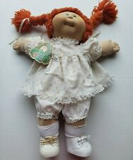 Vintage 1983 Cabbage Patch Kid Redhead Double Braided Ponytail Swivel Head Girl