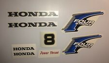 Honda 8 hp 4-Stroke Outboard Decal Kit - USA free fast shipping fourstroke